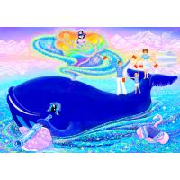 Цветная иллюстрация к песне «КРАСОТА СИНЕГО КИТА»