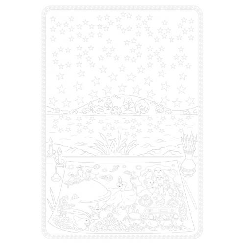 Открытка-раскраска к Песне Сказочника «РАСКРАСКА»