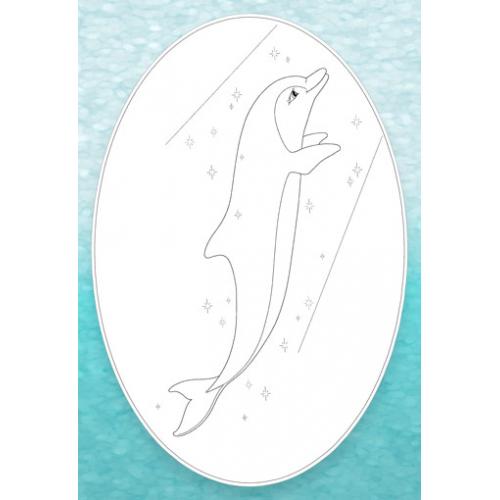 Бейдж-раскраска для Дельфинёнка