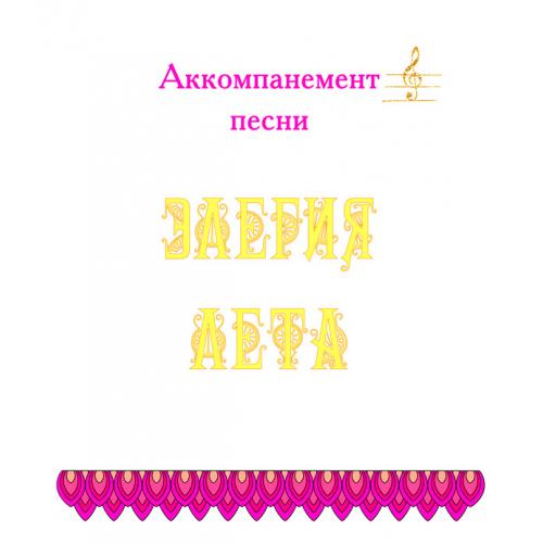 Аккомпанемент песни «ЭЛЕГИЯ ЛЕТА» (выпуск 2). CD